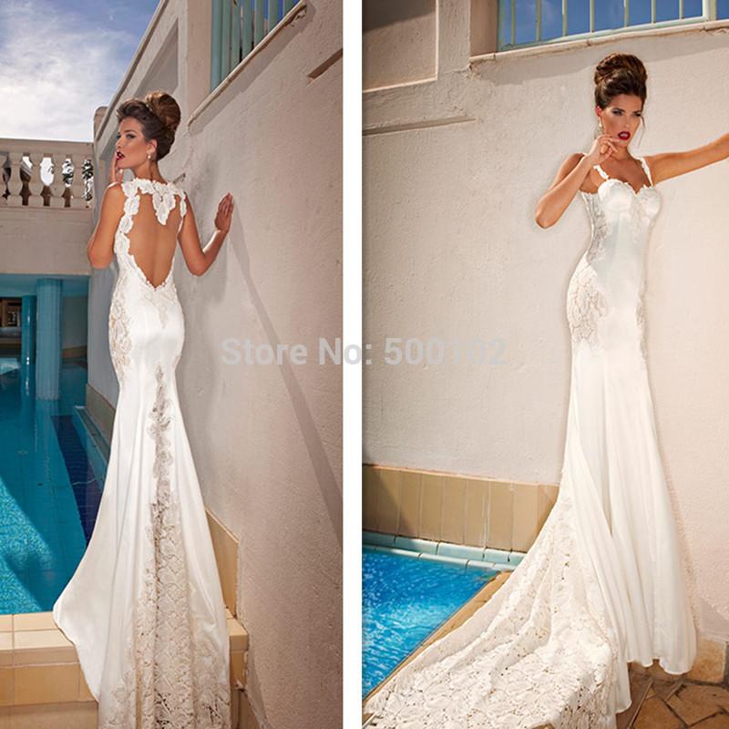 Wedding Dress  Jakarta : Sexy open back mermaid sweetheart sleeveless court