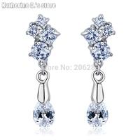 Top quality Fashion elegant crystal Drop earring zircon drop earring CEC_00088