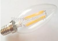 4W E14 220V or 110V LED Filament bulbs Light Clear Glass Housing LED Lamp high brightness Warm White or Pure White