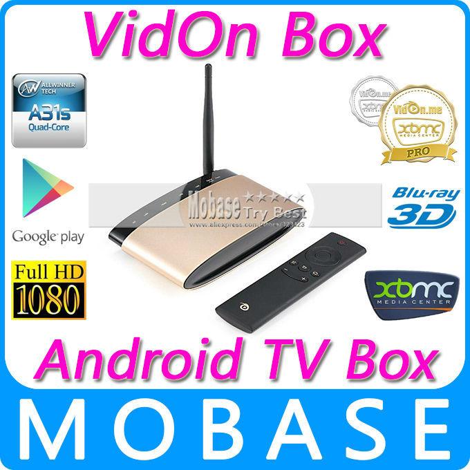 VidOn Box A31S Quad Core Android 4.4 Mini TV Box 1G/8G XBMC Pro 1080P 3D Blu-ray Playback DTS WIFI OTA Smart IPTV Media Player(China (Mainland))