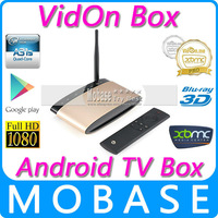VidOn Box A31S Quad Core Android 4.4 Mini TV Box 1G/8G XBMC Pro 1080P 3D Blu-ray Playback DTS WIFI OTA Smart IPTV Media Player
