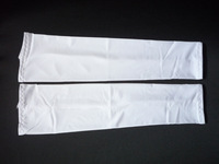 1Pair UV Protection Sun Protective Athletic driving white Sleeve