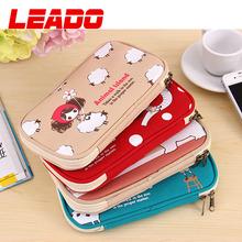 2015 Cartoon Creative Pencil Case Animal Style Zipper Pencil Bags Box Organizer cute Big School Pen Case Pouch For Children(China (Mainland))