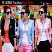 2014 New Fashion Lace Women small suit blazers female blazer feminino plus size blazers and jackets coats 20