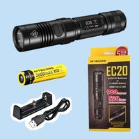 Free shipping-Original NITECORE EC20  flashlight 960 lumens+ rechargeable NL186 2600mah battery + XTAR MC1 USB charger