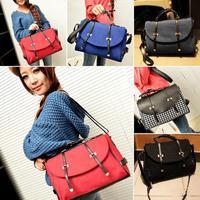 Women Fashion Simple Shoulder Tote Handbag Faux Leather Hobo Purse Cross Bag Free Drop Shipping Y9