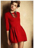 Best quality + 2014 Women's Spring Fashion Half Sleeve Victoria Beckham Dress