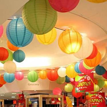 New 2014 (5pcs/Lot) 8''(20cm) Chinese Paper Lantern Lamp Festival&Wedding Decoration 11 Colors For Choosing Wedding Lantern(China (Mainland))
