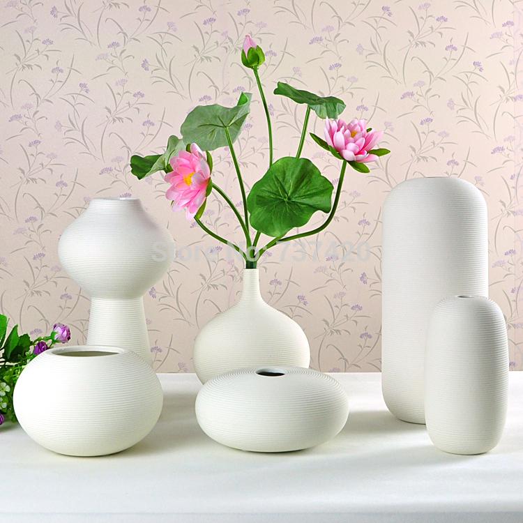 Crafts vase new 2015 ASA-03 designed C D E F STYLE ceramics white pot home decor handmade vases free shipping(China (Mainland))