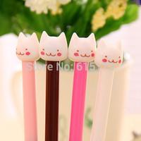 12 pcs/lot Novelty Kawaii Cute Korean Stationery Cat Gel Pen For Kid School Writing Supplies material escolar caneta papelaria