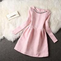 2014 vestido de festa ladies fashion brand elegant loose plus size women winter casual dress to party vestidos femininos SY2683