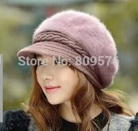 wholesale and customize new fashion women winter rabbit fur hats.ladies warm cap beabues,
