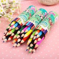B7 Color pencil student cartoon gift 12 color bottled color pencil crayons canetinha escolar canetinha para colorir