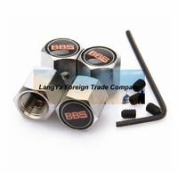 4caps/lot automobile wheel tire tyre valve cover anti-theft locking caps for bbs car badge