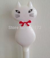 6 pcs/lot Funny Kawaii Cute Japan Korean Stationery Cartoon Cat Gel Pen For Kid School Writing Supplies caneta papelaria