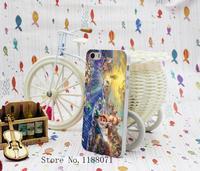 2 pcs Romantic Beautiful Ariel The Little Mermaid Design for iphone 5 5s 5g Case Cover Hard Transparent Style