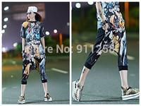 New Design Pope Figure Printing Women Hip Hop Street Dance Harem Shorts Casual Boots Capries Shorts FS3284