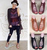 Free shipping women cross tied sandals ,women classice 7cm high heel plstform sandals 3 color , size 35-40