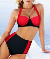 1pcs Summer Sexy Retro Pinup Rockabilly Vintage High Waist Bikini Swimsuit Swimwear S-XL Wholesale