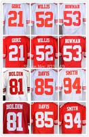 Free Shipping San Francisco Frank Gore,Patrick Willis,NaVorro Bowman,Anquan Boldin,Vernon Davis,Justin Smith Football Jerseys