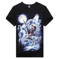 Summer Fashion Short Sleeve Cotton Camisetas Masculinas Mens 3d Print Hip Hop T Shirt Men European Size:M-XXXL