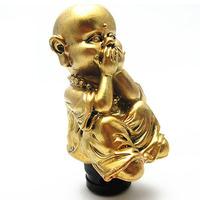 Universal Car Personality Modification Hide Your Face Buddha Shift Knob buddha shape golden color
