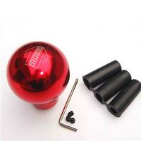 Universal General design red color round ball shape Metal Momo car Gear Shift Knob Fashion