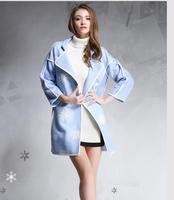 New winter wool woolen coat embroidered big loose woolen coat