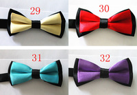 Hot Lot Of 5pcs 19colors Tuxedo Bowtie boys bow tie Fashion Solid Color BowTies Adjustable Child Bow tie butterfly Polyester