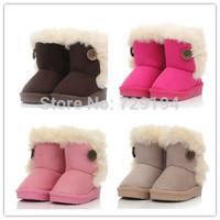 2014New children snow boots fur winter girls Children Thicken Shoes For baby Kids child snow boots 5 colour