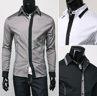 Drop Shipping Famous Band Men Shirt Spring Slim Fit Social Camisa Masculina Cotton Long Sleeve Casual Dress