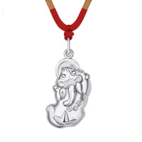 999 Fine Silver fashion mythical wild animal pendant,vintage jewelry for women 2014,Brave