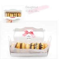 Bakery packaging box white long design cake box West box handbag box
