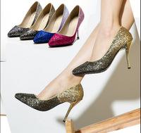 2014 New Arrival Woman  Banquet  Shoes Fashion Pumps Glitter Pumps High Heels Shoes Party  Pumps