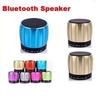 New Mini S13 Bluetooth Speakers Portable Wireless Speaker Player TF Card Good Quality Super Bass Metal HiFi Handsfree Speakers