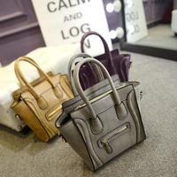 2014 women's handbag nubuck leather smiley fashion bag  one shoulder cross-body handbags