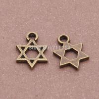 free shipping 300pcs/lot Zinc Alloy Antique Bronze Plated Pendants romantic star pendant 12*9mm Alloy Pendant fit jewelry