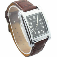 Personalized Casual Men Watches with Real Leather band Hot-sale New elegant digital quartz sport Wristwatches