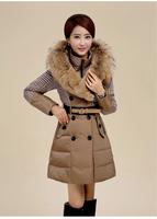 Women Thick Warm Winter Coat Long Sleeve Leopard Snow Wear Parkas Free Shipping 5038