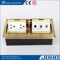 DCT-638/GB IP44 Brass Fast Pop Up Type Waterproof Floor Outlet