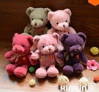 LY8006 Wholesale 5pcs/set 2014 New Cute Cartoon Bear Plush Toys Christmas Gift