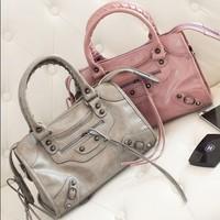 2015 New Arrival,Occident Women's Wax Leather Handbags,Paris Brand City Bucket Bag,100% Best Quality,6 Colors,2 Sizes