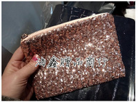 2015 au  Golden glitter beading bags pres  Cosmetic bag women femininas handbag clutches beauty