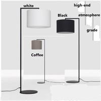 Modern Brief White/Black Fabric Lampshade Bedroom,Living room,Dinning Room,Office Beside Led Floor Lamps/Lights Indoor Lighting