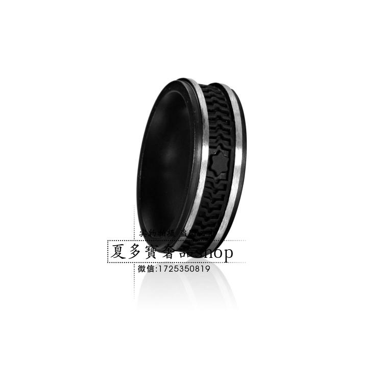 Five-pointed star high quality titanium ring black finger ring lovers design ring original box(China (Mainland))