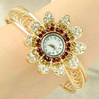 Fashion Watch Women girls Ladies Golden bangle rhinestone diamond watches Quartz Watch Wristwatches Relogio Feminino CX04