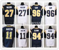 All Stitched Men's St. Louis 11 Tavon Austin,27 Tre Mason,94 Robert Quinn,96 Michael Sam American Football Jerseys,Size M-XXXL