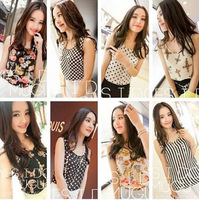 Can mix color in 1 lot S~XXXL Plus Size Summer Women Blouses ladies loose Chiffon Vest tank tops woman t-shirts cool shirts