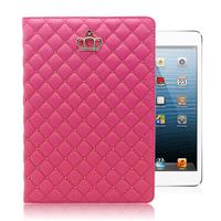 Free Gift!!For iPad Mini iPad Mini 2 Leather Case Crown Cover Foldable Smart Cover Case for iPad Mini Mini 2- Free Shipping
