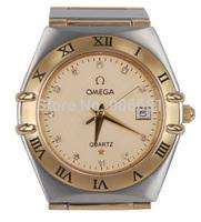 2014 new fashion luxury brand men full steel Watch sapphire mirror classic design male clock quartz men watch relogio masculino